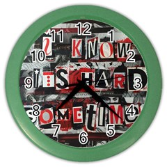 Top Lyrics   Twenty One Pilots The Run And Boys Color Wall Clocks