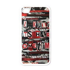 Top Lyrics   Twenty One Pilots The Run And Boys Apple Iphone 4 Case (white)
