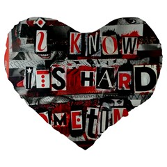 Top Lyrics   Twenty One Pilots The Run And Boys Large 19  Premium Flano Heart Shape Cushions