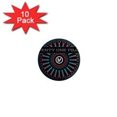 Twenty One Pilots 1  Mini Magnet (10 Pack)