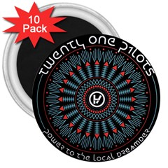 Twenty One Pilots 3  Magnets (10 Pack)