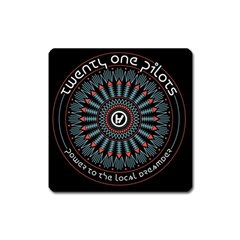 Twenty One Pilots Square Magnet
