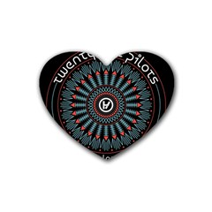 Twenty One Pilots Heart Coaster (4 Pack)