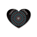 Twenty One Pilots Heart Coaster (4 pack)  Front