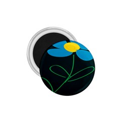 Whimsical Blue Flower Green Sexy 1 75  Magnets
