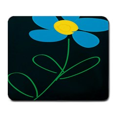 Whimsical Blue Flower Green Sexy Large Mousepads