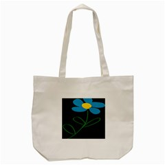 Whimsical Blue Flower Green Sexy Tote Bag (cream)