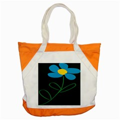 Whimsical Blue Flower Green Sexy Accent Tote Bag