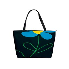 Whimsical Blue Flower Green Sexy Shoulder Handbags