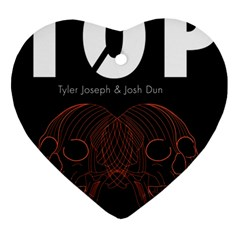 Twenty One Pilots Event Poster Ornament (heart)