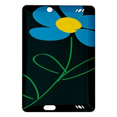 Whimsical Blue Flower Green Sexy Amazon Kindle Fire Hd (2013) Hardshell Case