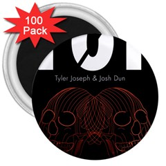 Twenty One Pilots Event Poster 3  Magnets (100 Pack)