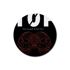 Twenty One Pilots Event Poster Rubber Round Coaster (4 Pack)