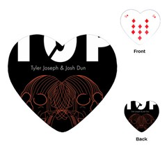 Twenty One Pilots Event Poster Playing Cards (heart)