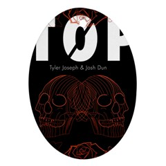 Twenty One Pilots Event Poster Oval Ornament (two Sides)