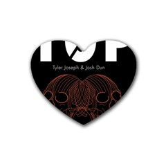 Twenty One Pilots Event Poster Rubber Coaster (heart)