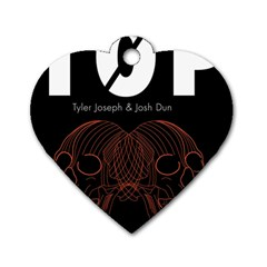 Twenty One Pilots Event Poster Dog Tag Heart (two Sides)
