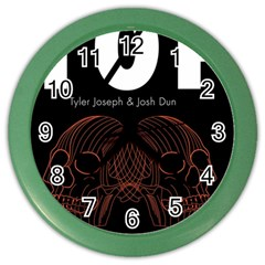 Twenty One Pilots Event Poster Color Wall Clocks