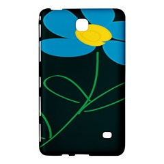 Whimsical Blue Flower Green Sexy Samsung Galaxy Tab 4 (8 ) Hardshell Case