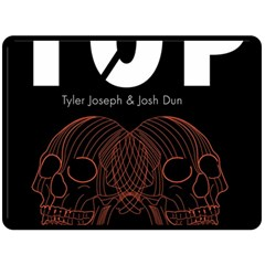 Twenty One Pilots Event Poster Double Sided Fleece Blanket (large)