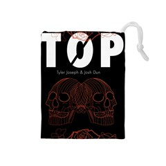 Twenty One Pilots Event Poster Drawstring Pouches (medium)