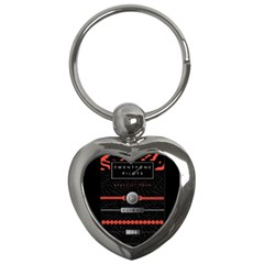Twenty One Pilots Event Poster Key Chains (heart)