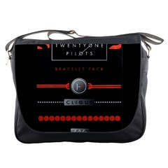 Twenty One Pilots Event Poster Messenger Bags