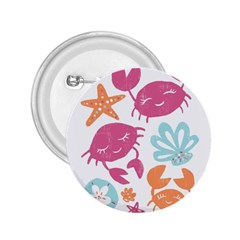 Animals Sea Flower Tropical Crab 2 25  Buttons
