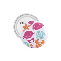 Animals Sea Flower Tropical Crab 1 75  Buttons