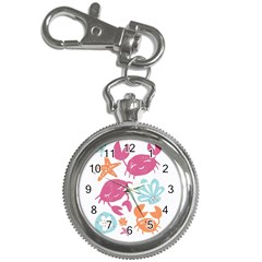 Animals Sea Flower Tropical Crab Key Chain Watches