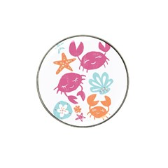 Animals Sea Flower Tropical Crab Hat Clip Ball Marker (4 Pack)