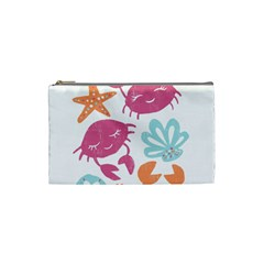 Animals Sea Flower Tropical Crab Cosmetic Bag (small)