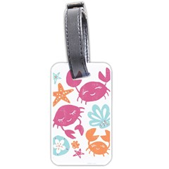 Animals Sea Flower Tropical Crab Luggage Tags (two Sides)