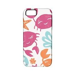 Animals Sea Flower Tropical Crab Apple Iphone 5 Classic Hardshell Case (pc+silicone)