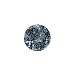 Abstract Floral Pattern Grey 1  Mini Buttons