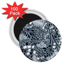 Abstract Floral Pattern Grey 2 25  Magnets (100 Pack)