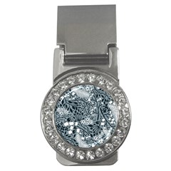 Abstract Floral Pattern Grey Money Clips (cz)