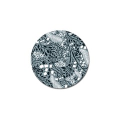 Abstract Floral Pattern Grey Golf Ball Marker (4 Pack)