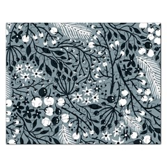 Abstract Floral Pattern Grey Rectangular Jigsaw Puzzl