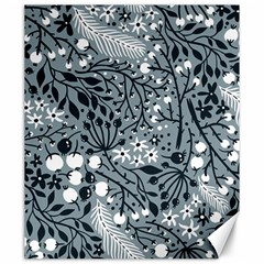 Abstract Floral Pattern Grey Canvas 20  X 24