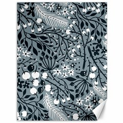 Abstract Floral Pattern Grey Canvas 36  X 48