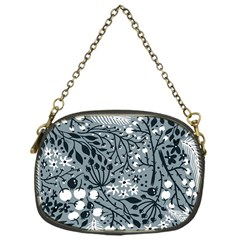 Abstract Floral Pattern Grey Chain Purses (one Side)