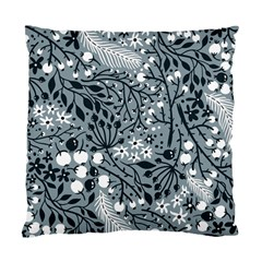 Abstract Floral Pattern Grey Standard Cushion Case (one Side)