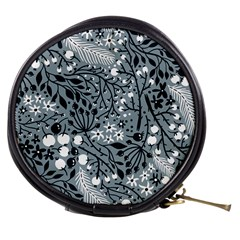 Abstract Floral Pattern Grey Mini Makeup Bags