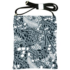 Abstract Floral Pattern Grey Shoulder Sling Bags