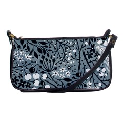 Abstract Floral Pattern Grey Shoulder Clutch Bags