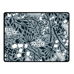 Abstract Floral Pattern Grey Fleece Blanket (small)