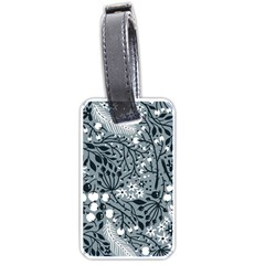Abstract Floral Pattern Grey Luggage Tags (one Side)