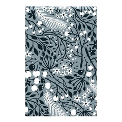 Abstract Floral Pattern Grey Shower Curtain 48  X 72  (small)