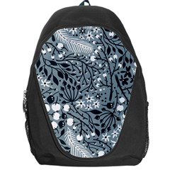 Abstract Floral Pattern Grey Backpack Bag